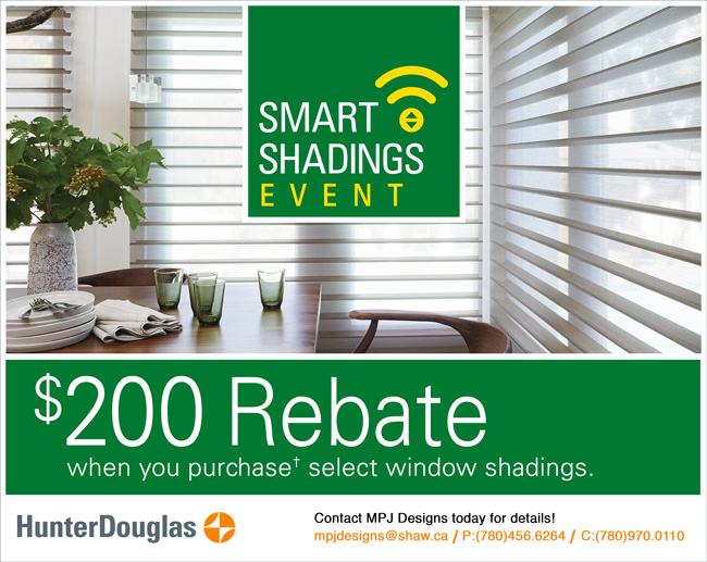 $200 Hunter Douglas Rebate with MPJ Designs